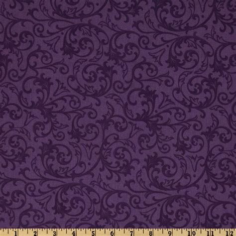Quilt Back Fabric by Baroque 108 Quot Wide Quilt Backing Flourish Purple Discount Designer Fabric Fabric