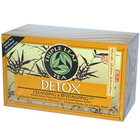 Does Tea Detox by Leaf Tea Detox 20 Tea Bags 1 4 Oz 40 G Iherb