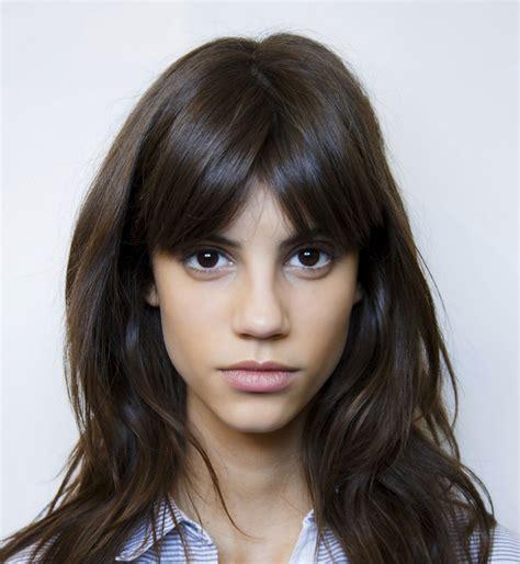 Coupe Cheveux Frange coiffure frange longue