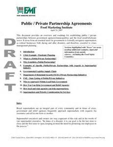 public private partnership agreements