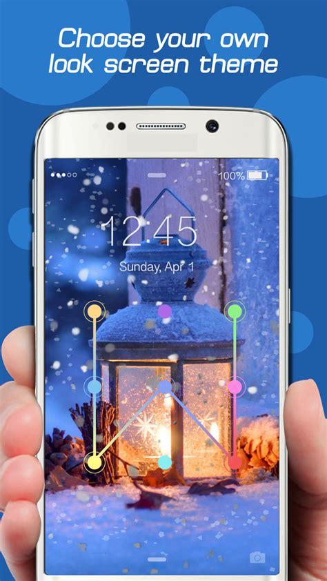 lock pattern theme android amazon com snowfall screen lock theme snow pattern lock