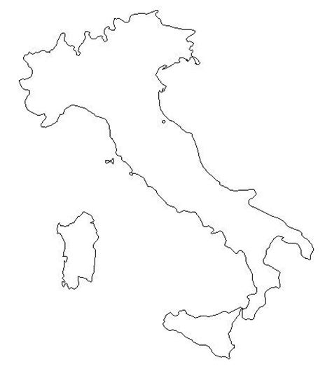 blank outline map of italy schools at look4