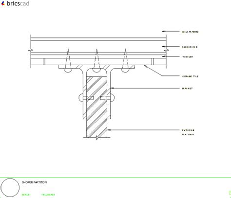 Corian Price Partition Support At Wall Aia Cad Details Zipped Into