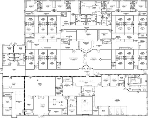 medical clinic floor plan searcy medical center west clinic scm architects