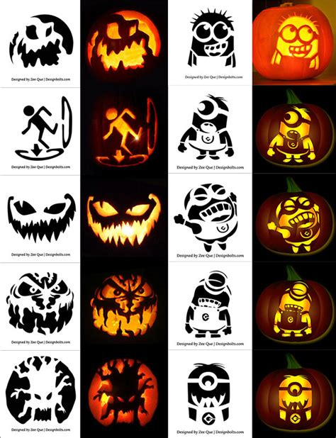 printable pumpkin carving patterns minion 220 free printable halloween pumpkin carving stencils