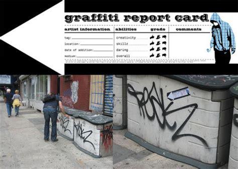 report graffiti the graffiti report card controversial