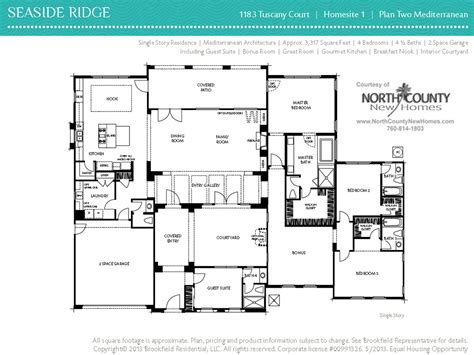seaside ridge floor plans