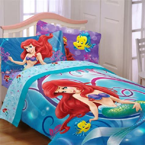 disney ariel little mermaid 7 pc full bedding sheet