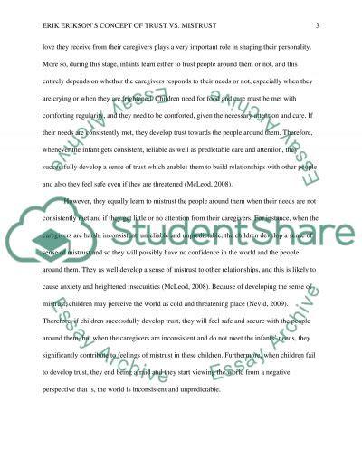 erik erikson research paper erik eriksons concept of trust vs mistrust research paper