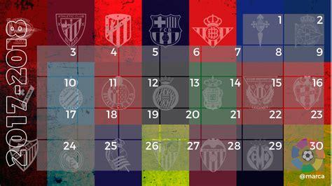 Calendario La Liga 2017 Calendario Laliga Santander 2017 2018 Marca