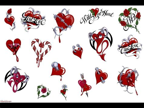 word heart tattoo designs tattoos
