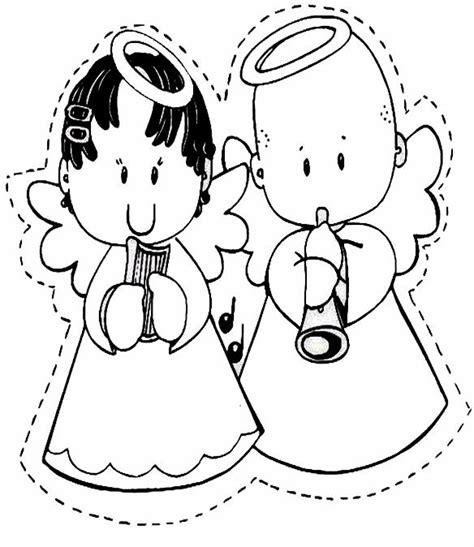 imagenes angeles navideños para colorear imagenes para angelitos imagui