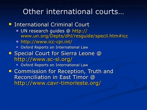 Finding Materials From International Courts And Tribunals