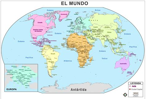 printable world map in spanish map of world spain my blog