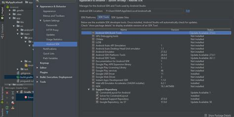 android build tools android studio not using build tools stack overflow