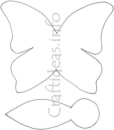Butterfly Craft Paper - butterfly paper craft template for a butterfly