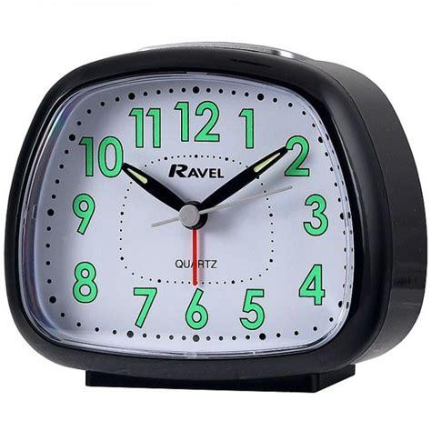 Bedside Table Clock Ravel Bedside Table Quartz Alarm Clock Silent Sweep Rc011