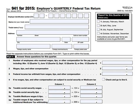 941 form for 2016 printable irs quarterly tax forms 2016 calendar template 2016