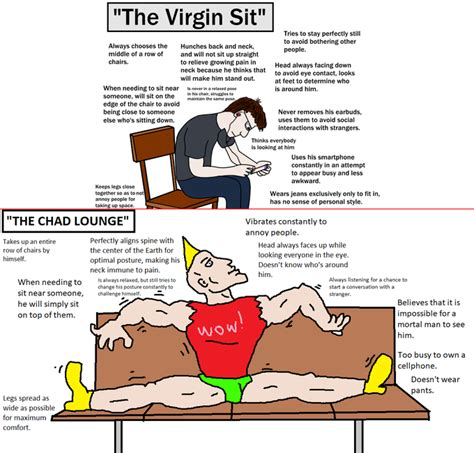 And To Harass Virgins by The Sit Vs The Chad Lounge Counter Signal Memes