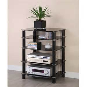Audio Component Rack Walker Edison Multilevel Hifi Rack With Reviews Home