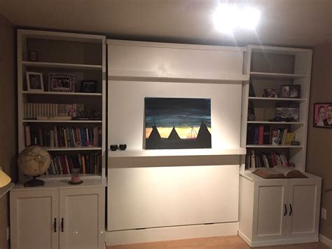 murphy bed wall unit with custom murphy bed and wall unit by heartsong woodwork