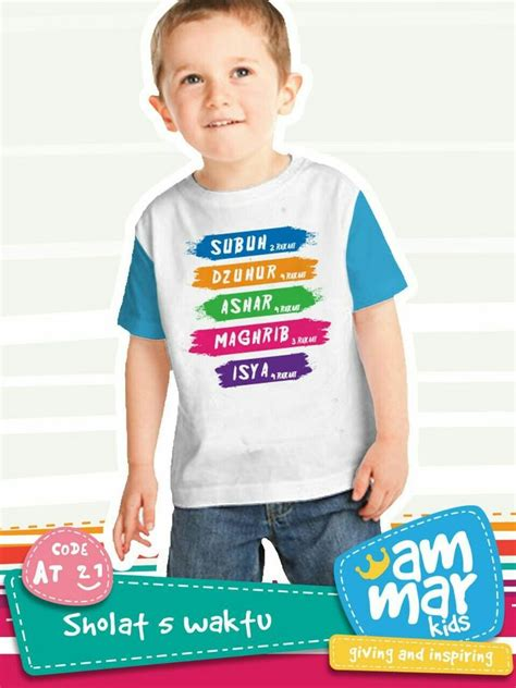 desain baju yg lucu quot shalat 5 waktu quot mengedukasi anak untuk mengingat waktu