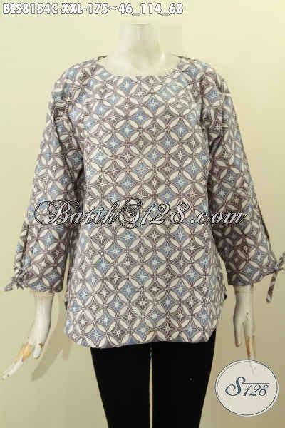 Model Baju Big Size model baju batik elegan spesial buat wanita gemuk blus