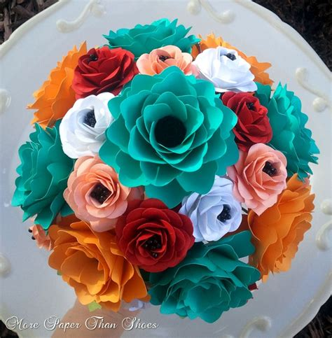 Handmade Paper Flower Bouquet - handmade paper flower bouquet creative bouquets