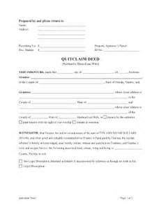 Florida Quit Claim Deed Form Template by Quit Claim Deed Florida Fill Printable Fillable