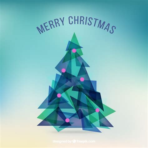 abstract triangle christmas tree vector free download
