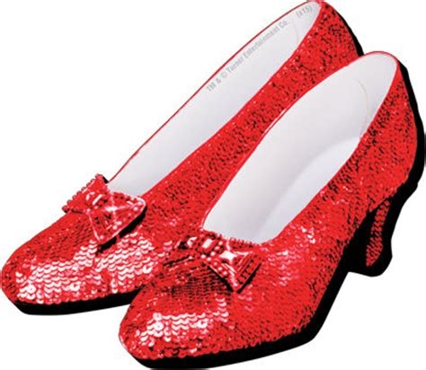 red house shoes ruby red slippers magnet wizard of oz