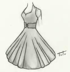 how to draw a dress 50 s dress drawing by tutu2324 on deviantart