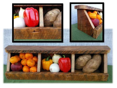 Countertop Fruit Storage by Rustic Reclaimed Wood Divided 3 Bin Countertop Farmhouse