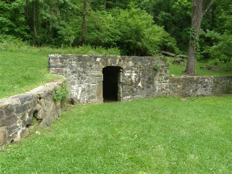 root cellar or tornado shelter backyard of the