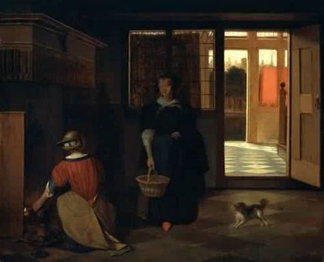 interior of a dutch house pieter de hooch interior of a dutch house 1680 painting reproduction on artclon for