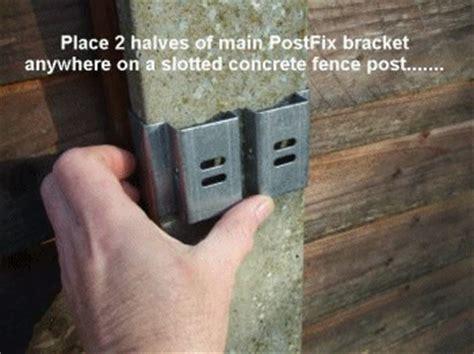 brighten  concrete fence posts  postfix brackets