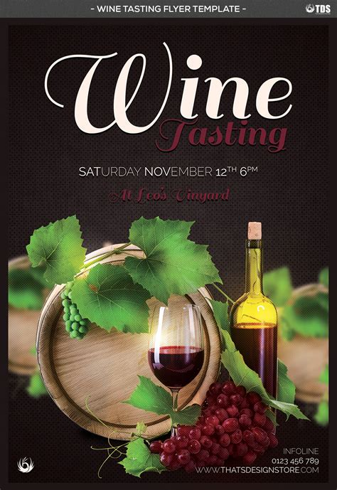 Wine Tasting Flyer Template By Thats Design Store Thehungryjpeg Com Free Wine Tasting Flyer Template