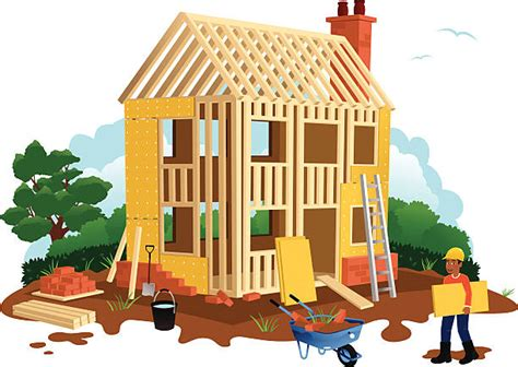 free online home builder royalty free house construction clip art vector images