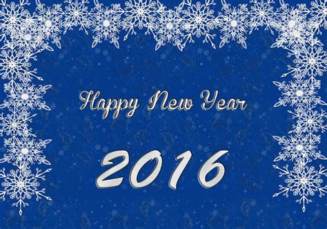 new year snow snow blue happy new year 2016 image