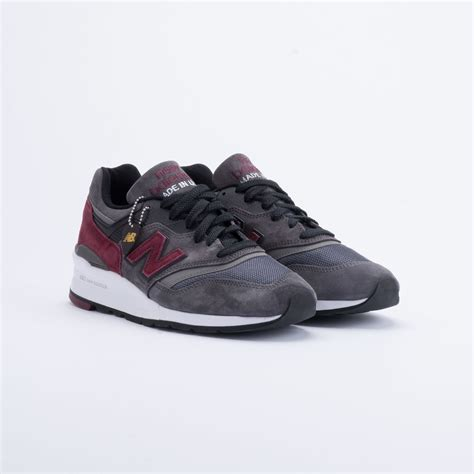sneaker shops usa new balance m997 made in usa charcoal burgundy sneaker