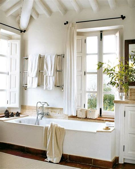 farmhouse chic bathroom bathroom windows to cover or not to cover beneath my