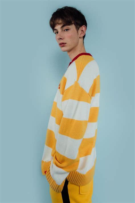 knit aesthetic stripe henley neck knit mixxmix aesthetics