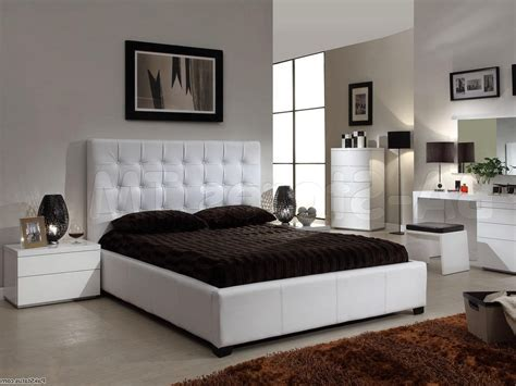 High Bed Set by Furniture White Bedroom Set White High Gloss Wood