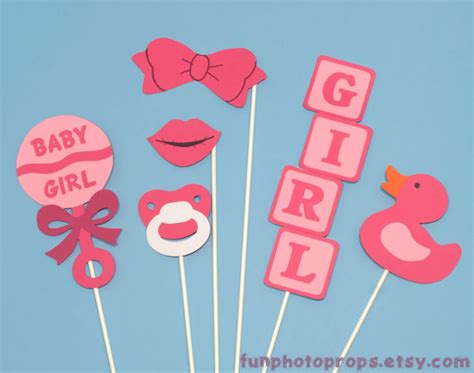 free printables for baby shower photo booth photo booth prop set 6 piece baby girl photobooth set
