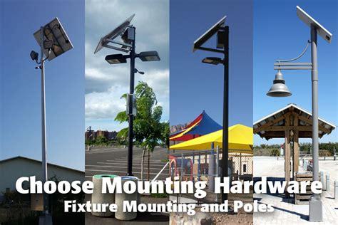 solar lighting design solar lighting design guide choose mounting hardware