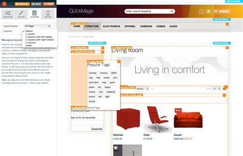 custom layout update magento css magento theme editor creator css layout edits oye