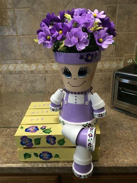 Flower Pots With Faces On Them 25 beste idee 235 n over bloempotten op pinterest