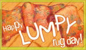 holidays lumpy rug day