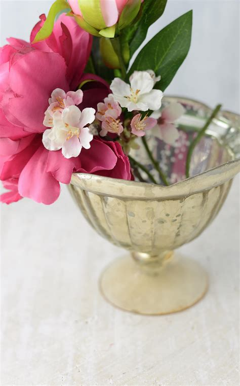 Gold Compote Vase by Gold Carraway Compote Vase
