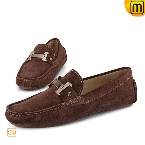 brown loafers casual leather loafers for cw713125